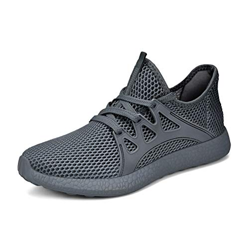 SouthBrothers Womens Lightweight Sneakers Ultra Breathable Mesh Sport Athletic Walking Running Shoe Grey/Grey Size 7