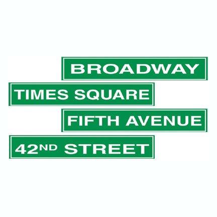 Beistle S50094AZ3 New York City Street Sign Cutouts, Green/White -
