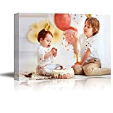 SIGNFORD Custom Canvas Prints, Kids Personalized Poster Wall Art with Your Photos Wood Frame Digitally Printed - 8x10 Inch