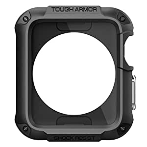 Rugged Screen Protector Case Apple Watch 42mm Bumper Armor Sport iWatch Metal