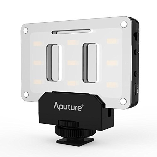 Aputure Amaran AL-M9 LED Video Light Built in Battery Pockable TLCI/CRI 95+ On-camera Fill Light 9pcs SMD Lighting for DSLR Camera by Aputure