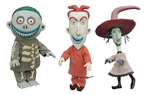DIAMOND SELECT TOYS The Nightmare Before Christmas: Lock Shock & Barrel Deluxe Cloth Dolls ()