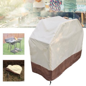 Masking - 150x56x116cm Bbq Grill Waterproof Cover Outdoor Patio Barbecue Stove Rain Dust Protector - Covering Concealment Binding Book Cut Covert Natural Wrap Spread Screening - 1PCs -