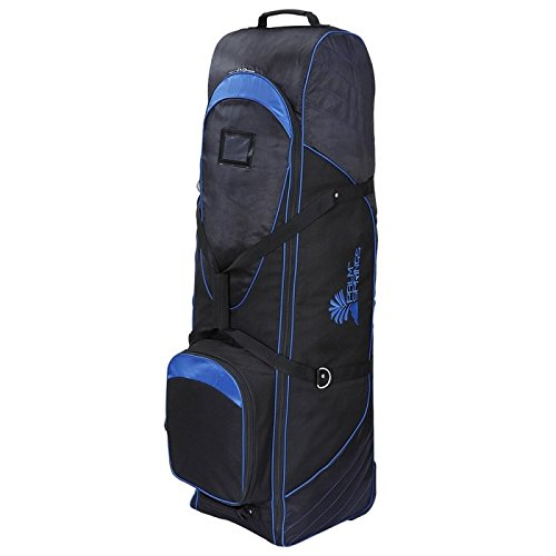 Palm Springs Golf Bag Tour Travel Cover V2 with Wheels Black/Blue by Palm Springs
