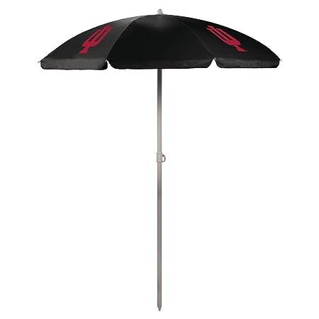 NCAA Indiana University Hoosiers Digital Print Umbrella, Black, One Size