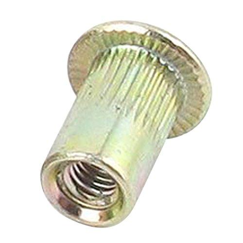 R SODIAL 20 pcs plain heads metric steel M3 rivet blind rivet nut insertion thread
