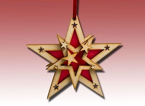 Come Costruire Una Stella Di Natale.Stella Di Legno Come Un Albero Di Natale In 3d Amazon It Casa E Cucina