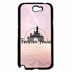 Castle Inspired Forever Young - TPU Rubber Silicone Phone Case Back Cover (Samsung Galaxy Note II 2 N7100)