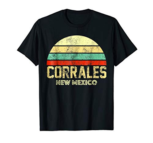 Corral Womens New - Corrales NM New Mexico Vintage Retro Sunset Tee T Shirt