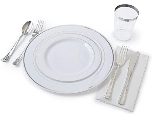 """OCCASIONS"" Full Plastic Tableware set - Wedding Disposable"
