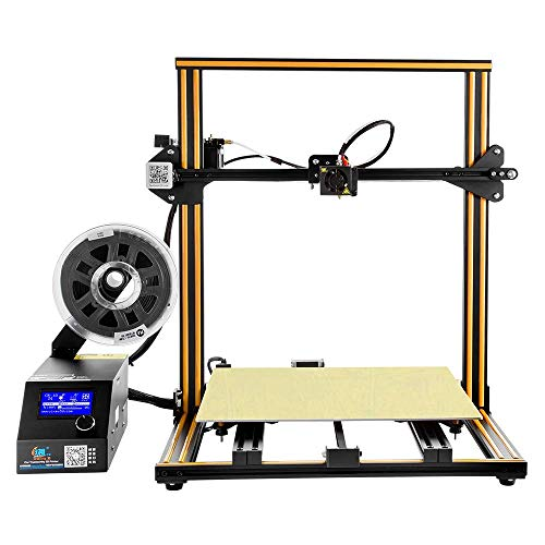 RABATE Creality 3D Printer CR-10 S4 by Rabate with Filament Monitor Dual Z Rod Screws 400x400x400mm – Orange