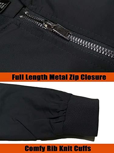 MAGCOMSEN Men's Bomber Jacket with Pockets Lightweight Spring Fall Outwear Windbreaker