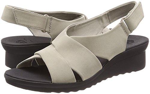 38 5 Clarks EU Comfort Low Womens Wedge Taupe Sandal Beige Taille UK W6FSWx