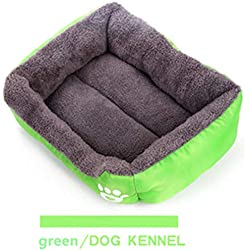 WTTYSOL 10 Colors Paw Pet Sofa S/M/L/XL/XXL/XXXL Dog Beds Waterproof Bottom Soft Fleece Warm Cat Bed Mats House Petshop Green XXL