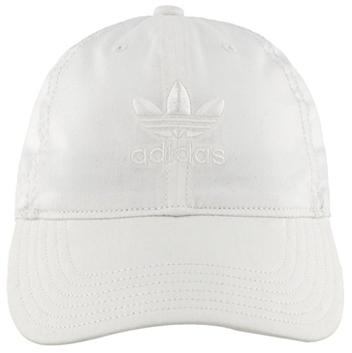 adidas Women's Originals Relaxed Adjustable Strapback Cap, White/White, One Size
