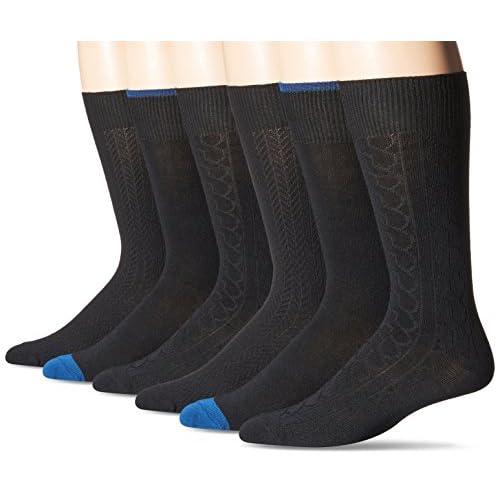 Nice Fruit Of The Loom Men\'s 6 Pack Vertical Stranded Crew Socks free shipping Py1zQ7zb