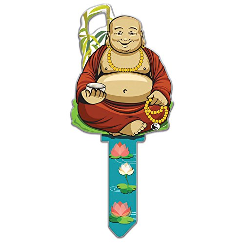 Uncut House Key - Lucky Line Key Shapes, Buddha, House Key Blank, SC1, 1 Key (B137S)