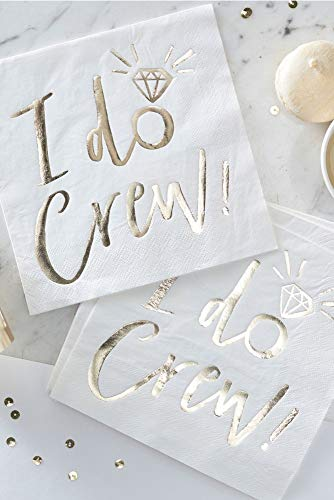 Ginger Ray Gold I Do Crew Napkins Style ID-409, Gold ()