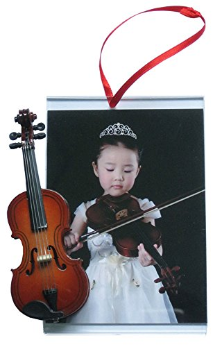 Holiday Ornament Frame - Music Treasures Co. Picture Frame Ornament with Violin