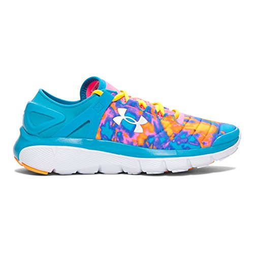889362249131 - Kids Under Armour Speedform Fortis Atom Grade School, Bold Aqua/Pink, 3.5 Big Kid M carousel main 0