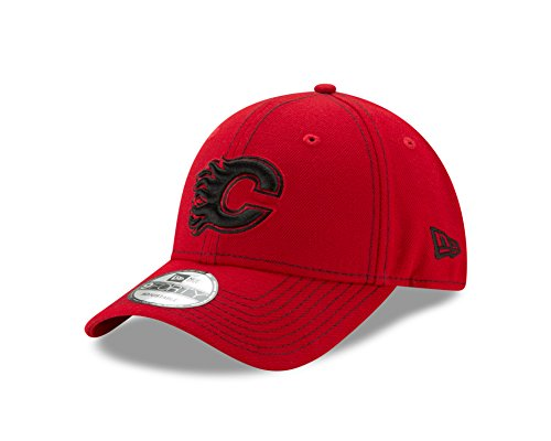 (New Era NHL Calgary Flames Adult The League Classic 9FORTY Cap, One Size,)