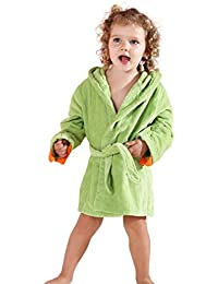 Girls Boys Robe Cotton Towel Kids Animal Dinosaur Style Hooded Bathrobe 648dd75dc