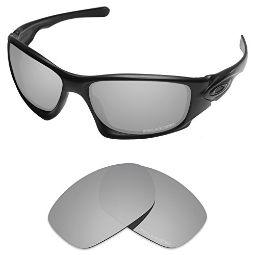 Tintart Performance Lenses Compatible with Oakley Ten X Polycarbonate Polarized Etched-Silver Metallic