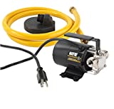 Tools & Hardware : WAYNE PC2 Portable Transfer Water Pump With Suction Hose And Attachment, Black