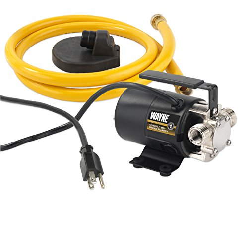 WAYNE PC2 Portable Transfer Water Pump With Suction Hose And Attachment, Black ()