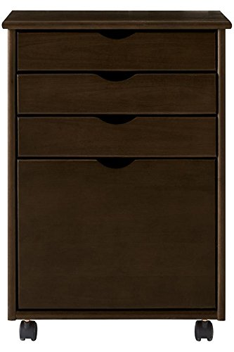 Stanton 3 + 1 File Storage Cart, 28''Hx20''Wx18''D, CHESTNUT by Home Decorators Collection