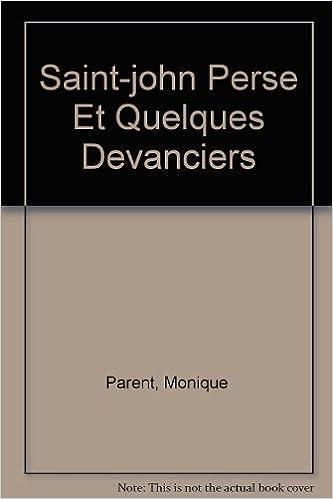 Livres audio gratuits à télécharger Saint-john Perse Et Quelques Devanciers PDF ePub iBook