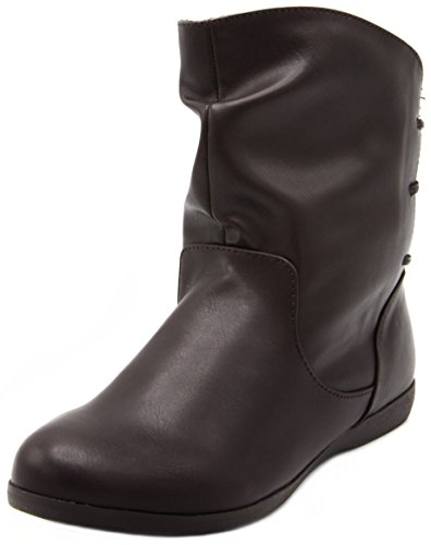 Sugar Women's Brooke Slouched Flat Ankle Boot Bootie 10 - Boots Glasses Replacement