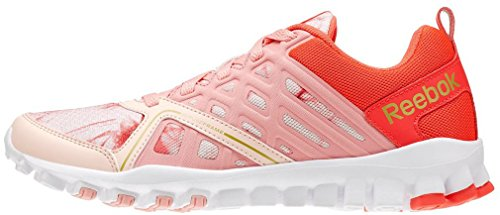 Reebok Realflex Train 3.0 Wow - Zapatillas de tela para mujer rosa pink quiet pink eon cherry gold met white pink quiet pink eon cherry gold met white