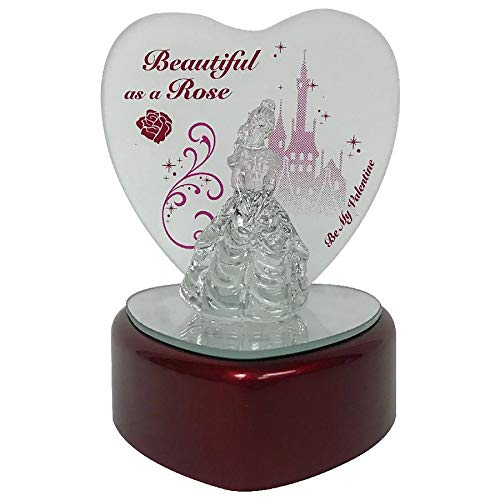 KCare Disney Light Up Glass Figurine - Valentine's Day Beauty and The Beast