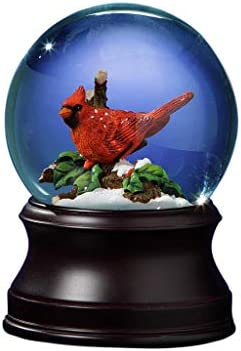 The San Francisco Music Box Company Holiday Cardinal Snow Globe