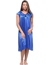 Casual Nights Women's Cap Sleeve Rose Satin Nightgown