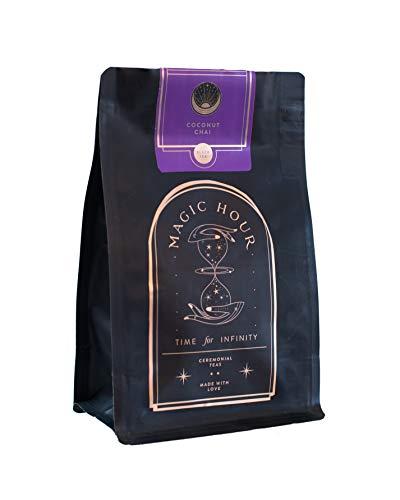 Magic Hour - Organic Coconut Chai - A Delicious And Bold Take On Chai- Pure Loose Leaf - Fair Trade - Complex, Fragrant and Sublime - Gypsy Tea Classic 6 oz (80 cups) Black Tea Pu-erh 100% Natural