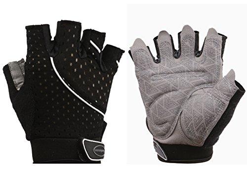 Black Cross Training Glove (Weight Lifting Gym Gloves Microfiber & Anti-Slip Silica Gel Grip Padded Workout Gloves for Weightlifting, Cross Training, Gym, Fitness, Bodybuilding Men & Women (Black, Medium))