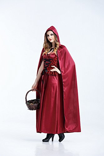 Ruanyi Halloween Cosplay Costume Little Red Riding Hood Vampire Long Dress Gothic Queen Costume for Women (Size : M) ()