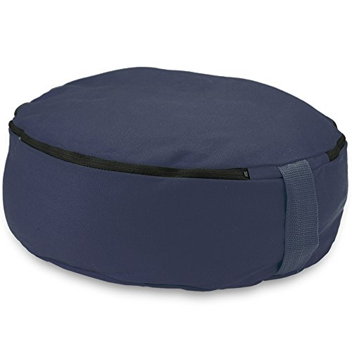 Crown Sporting Goods 15'' Round Heavy Canvas Zafu Meditation Cushion (Blue) by Crown Sporting Goods