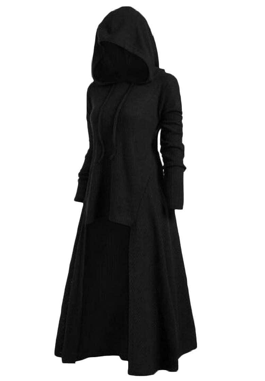 Etecredpow Women Casual Large Size Hooded Long Sleeve Sweatshirt Pullover