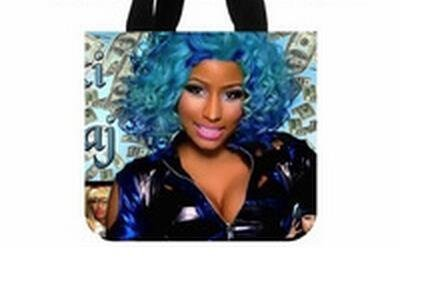nicki-minaj-pink-friday-rapper-singer-american-idol-blue-tote-bag-eco-friendlytwo-sides-same-printed