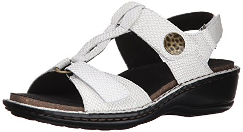 Aravon Women's Collette AR Dress Sandal,White Print,10 B US