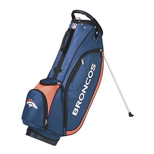 (Wilson NFL Denver Broncos Carry Golf Bag, Navy/Orange, One Size)