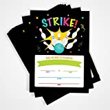 Bowling Party Invitation, 20 Invitations and Envelopes, Bowling Birthday Party Invitations, Ideas, and Supplies