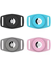 Airtag Dog Cat Collar for Apple Airtags - 4 Pack, Adjustable Pet Collar Airtags Case Holder, Pet Accessories Secure GPS Tracker Silicon Protective Neck Bands for Dogs Cats Pets