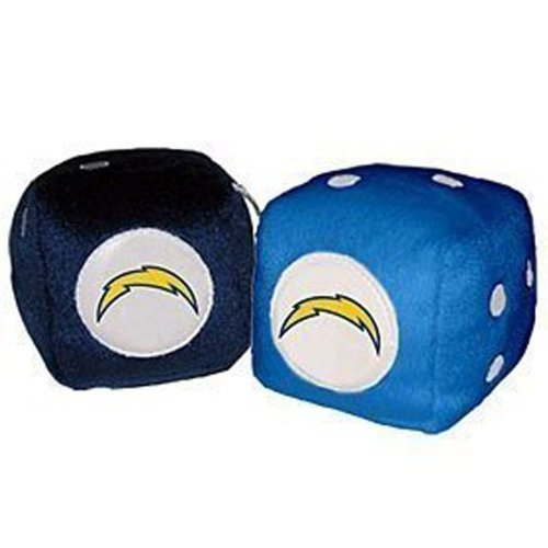 Rearview Mirror Fuzzy Dice - NFL Football - San Diego - San Shopping Diego Outlet