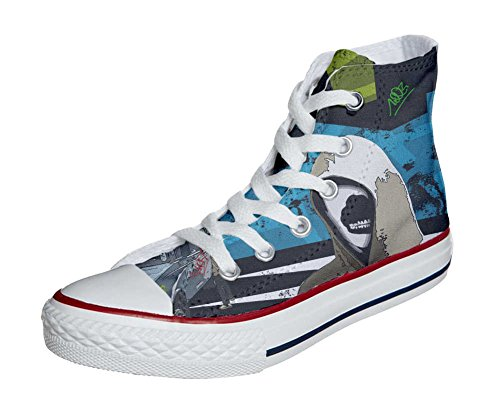 Converse All Star chaussures coutume mixte adulte (produit artisanal) Graffiti Street