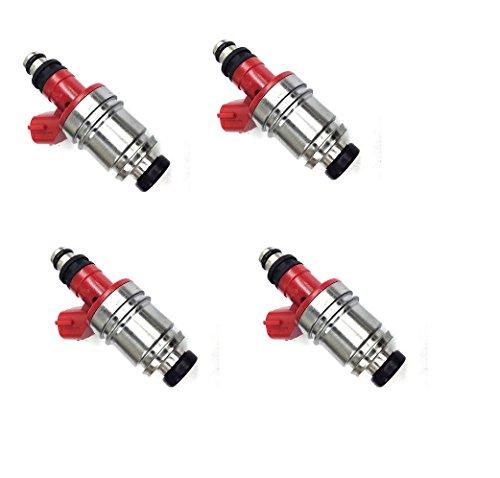 Set Fuel Suzuki Injector (Re-Manufactured OEM Jecs JS28-2 Fuel Injector for Isuzu/Honda/Suzuki 1.8L, 2.0L, 2.3L, 2.6L Set of 4)