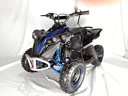 Mini quad de gasolina con motor de 49cc de 2 tiempos -ATV17 KING KONG. / Mini quad para niños de 5 a 12 años/miniquad infantil (AZUL)